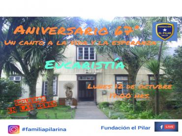 INVITACION EUCARISTíA ANIVERSARIO FUNDACION EL PILAR